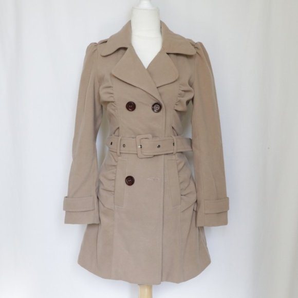 Arden B Jackets & Blazers - Arden B Tan Brown Belted Trench Coat size XS